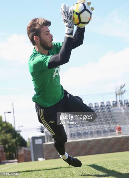 David de Gea of Manchester United in action during a first team training session as part of their preseason tour of the USA on July 25 2017 in...