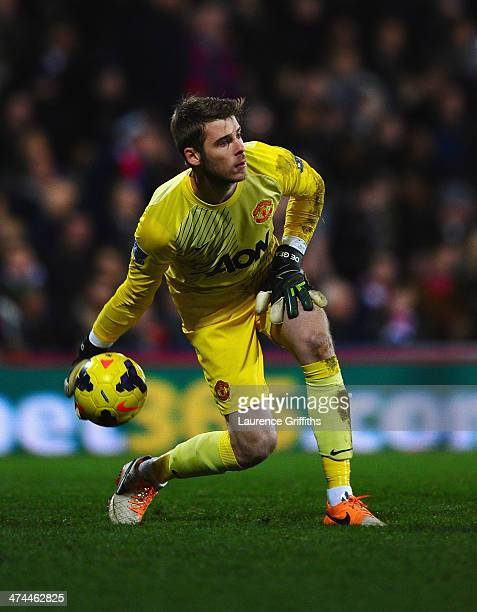 David De Gea of Manchester United in action during the Barclays Premier League match between Crystal Palace and Manchester United at Selhurst Park on...