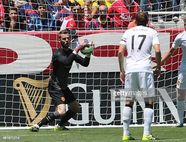David de Gea of Manchester United in action during the International Champions Cup 2015 match between Manchester United and Barcelona at Levi's...