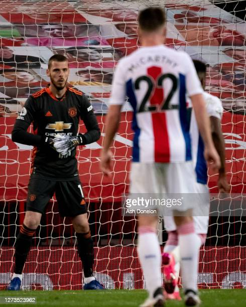 David de Gea of Manchester United in action during the Premier League match between Manchester United and Crystal Palace at Old Trafford on September...