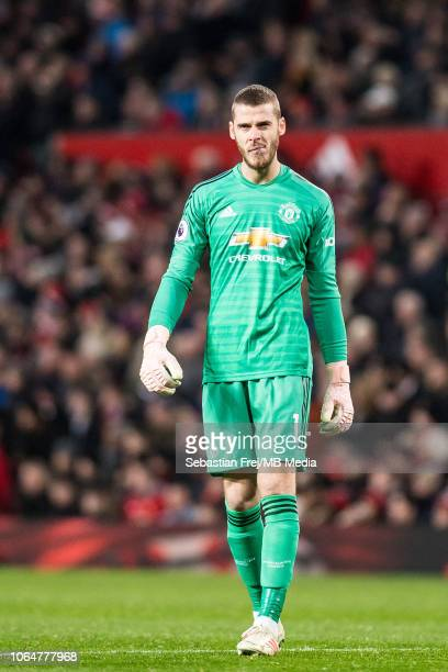 David de Gea of Manchester United looks on during the Premier League match between Manchester United and Crystal Palace at Old Trafford on November...