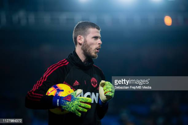 David de Gea of Manchester United looks on during the Premier League match between Crystal Palace and Manchester United at Selhurst Park on February...
