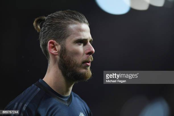 David de Gea of Manchester United looks on during the Premier League match between Manchester United and Manchester City at Old Trafford on December...