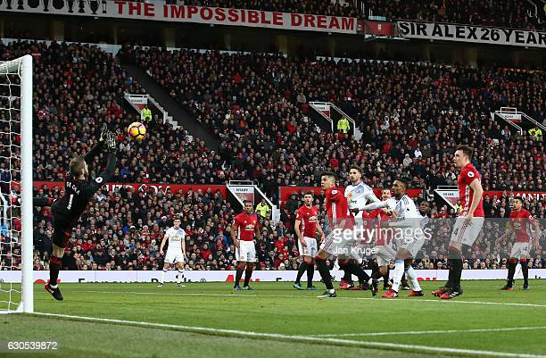 David De Gea of Manchester United makes a save during the Premier League match between Manchester United and Sunderland at Old Trafford on December...
