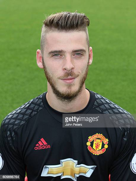 David De Gea of Manchester United poses for a portrait at the Manchester United Official Photocall on September 19 2016 in Manchester England
