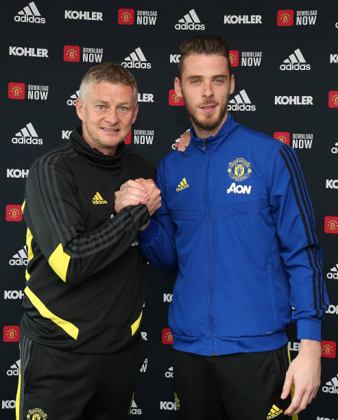 GBR: David de Gea Signs a New Contract at Manchester United