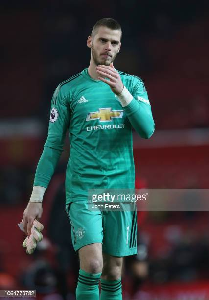 David de Gea of Manchester United walks off after the Premier League match between Manchester United and Crystal Palace at Old Trafford on November...