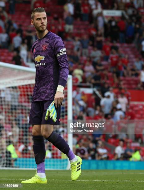 David de Gea of Manchester United walks off after the Premier League match between Manchester United and Crystal Palace at Old Trafford on August 24...