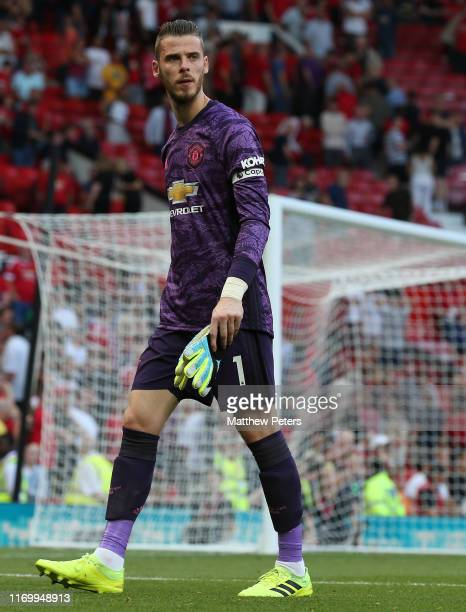 David de Gea of Manchester United walks off after the Premier League match between Manchester United and Crystal Palace at Old Trafford on August 24,...