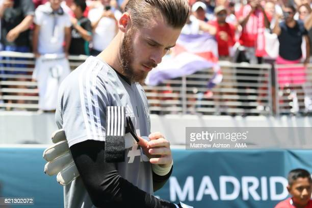 David de Gea of Manchester United walks out to train during the International Champions Cup 2017 match between Real Madrid v Manchester United at...