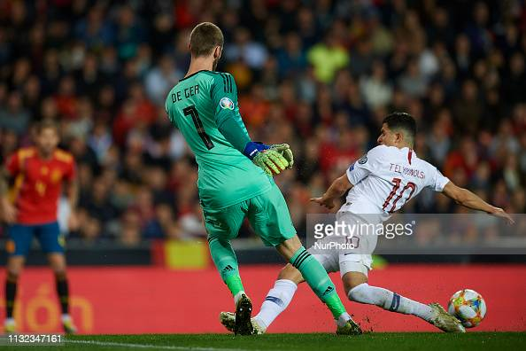 David De Gea Of Spain And Tarik Elyounoussi Of Norway