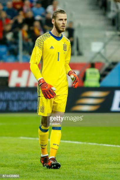 David de Gea of Spain during Russia and Spain International friendly match on November 14 2017 at Saint Petersburg Stadium in Saint Petersburg Russia