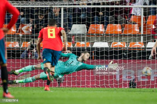 David De Gea of Spain during the EURO Qualifier match between Spain v Norway at the Estadio de Mestalla on March 23 2019 in Valencia Spain