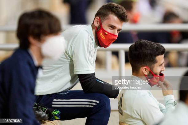 David De Gea of Spain during the World Cup Qualifier match between Spain v Kosovo at the La Cartuja Stadium on March 31, 2021 in Sevilla Spain