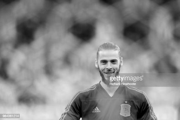 David De Gea of Spain in action during the 2018 FIFA World Cup Russia group B match between Spain and Morocco at Kaliningrad Stadium on June 25 2018...