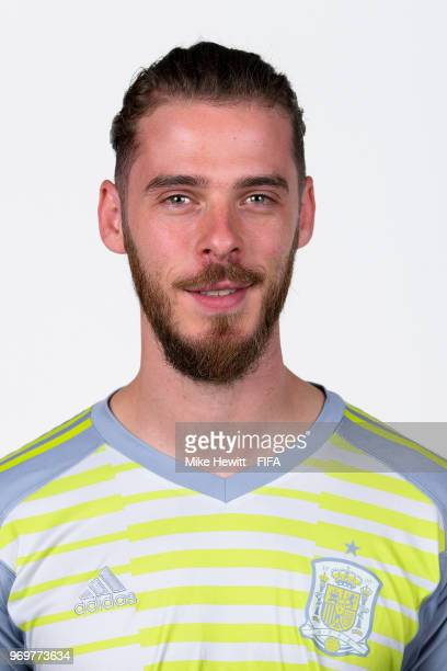 David de Gea of Spain poses for a portrait during the official FIFA World Cup 2018 portrait session at FC Krasnodar Academy on June 8 2018 in...