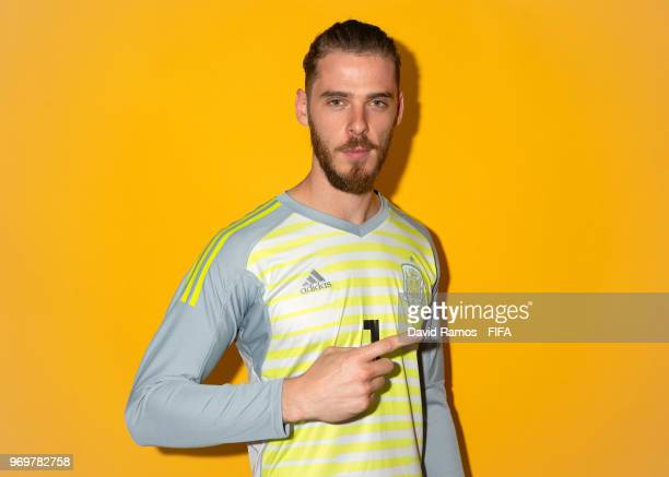 d3e1ee48b David de Gea of Spain poses for a portrait during the official FIFA World  Cup 2018