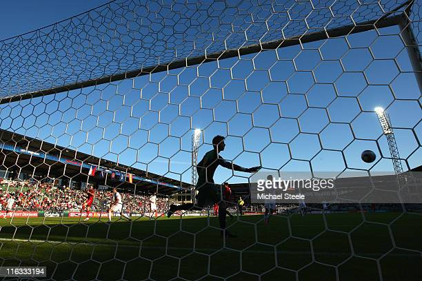 David de Gea the Spain goalkeeper has the ball covered during the UEFA European Under21 Championship Group B match between Czech Republic and Spain...