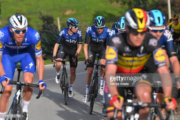 David De La Cruz Melgarejo of Spain and Team Sky / Wouter Poels of Netherlands and Team Sky / during the 45th Volta ao Algarve Stage 2 a 1874 km...
