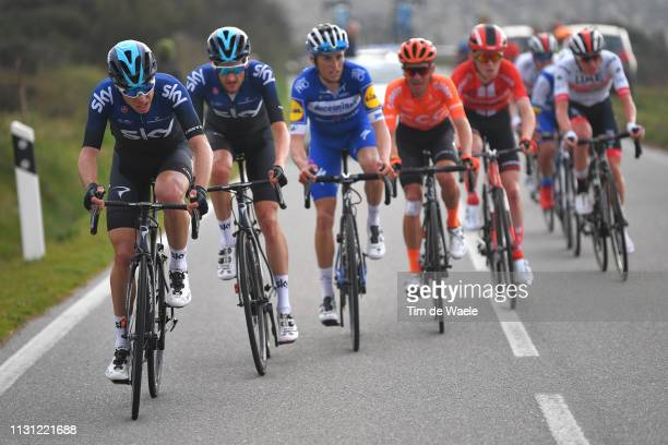 David De La Cruz Melgarejo of Spain and Team Sky / Wouter Poels of Netherlands and Team Sky / Enric Mas Nicolau of Spain and Team Deceuninck...