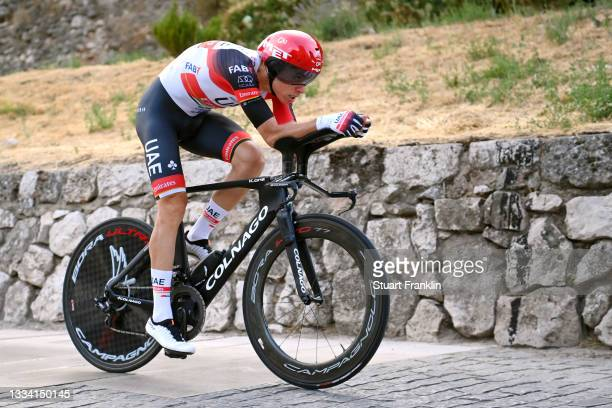 David De La Cruz Melgarejo of Spain and UAE Team Emirates competes during the 76th Tour of Spain 2021, Stage 1 a 7,1km individual time trial from...