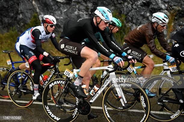 David de la Cruz Melgarejo of Spain and UAE Team Emirates / Dorian Godon of France and Team AG2R La Mondiale / Ide Schelling of The Netherlands and...