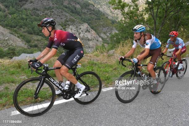 David de la Cruz of Spain and Team Ineos / Pierre Latour of France and Team AG2R La Mondiale / Matteo Fabbro of Italy and Team KatushaAlpecin /...