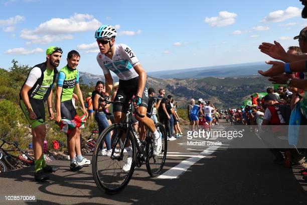 David De La Cruz of Spain and Team Sky / Alto de la Camperona / Fans / Public / during the 73rd Tour of Spain 2018 Stage 13 a 1748km stage from...