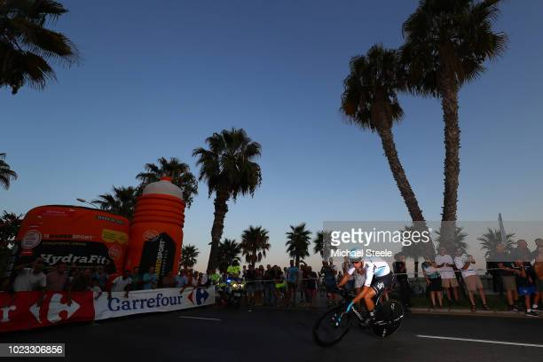 David De La Cruz of Spain and Team Sky / during the 73rd Tour of Spain 2018 Stage 1 a 8km Individual Time Trial from Malaga to Malaga / La Vuelta /...
