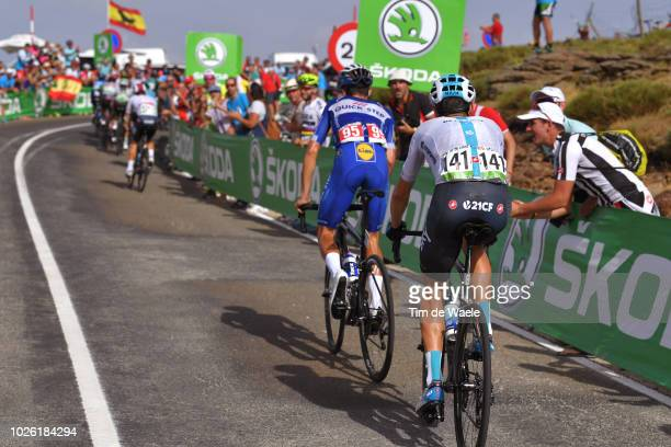 David De La Cruz of Spain and Team Sky / Enric Mas of Spain and Team QuickStep Floors / during the 73rd Tour of Spain 2018 Stage 9 a 2008km stage...