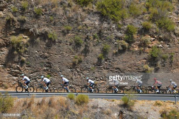 David De La Cruz of Spain and Team Sky / Jonathan Castroviejo of Spain and Team Sky / Tao Geoghegan Hart of Great Britain and Team Sky / Sergio Luis...
