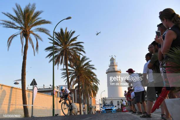 David De La Cruz of Spain and Team Sky / Lighthouse / Fans / Public / during the 73rd Tour of Spain 2018 Stage 1 a 8km Individual Time Trial from...
