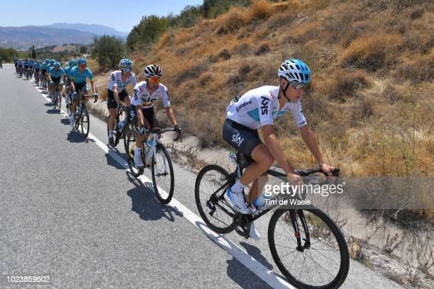 David De La Cruz of Spain and Team Sky / Sergio Luis Henao Montoya of Colombia and Team Sky / during the 73rd Tour of Spain 2018 Stage 2 a 1635km...