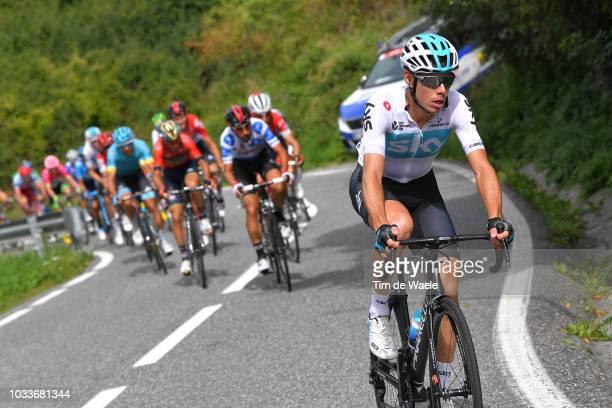 David De La Cruz of Spain and Team Sky / Thomas De Gendt of Belgium and Team Lotto Soudal Polka Dot Mountain Jersey / during the 73rd Tour of Spain...