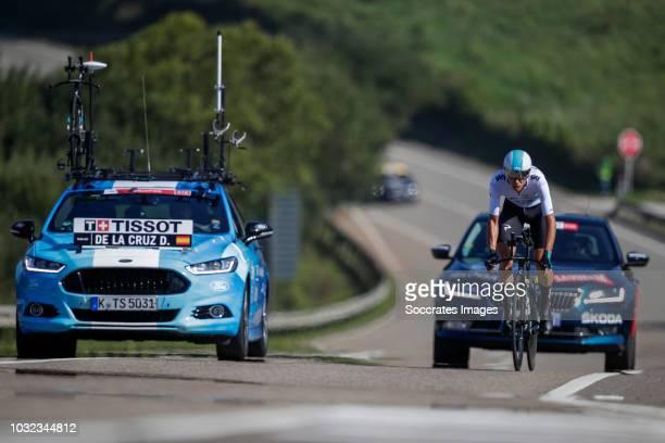 David de la Cruz of Team Sky during the Vuelta on September 11 2018