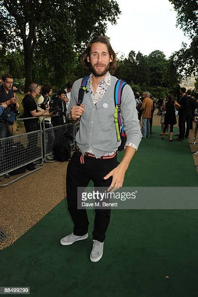 David de Rothchild pose as The McCartney Family Launches 'Meat Free Monday' at Inn The Park on June 15 2009 in London England