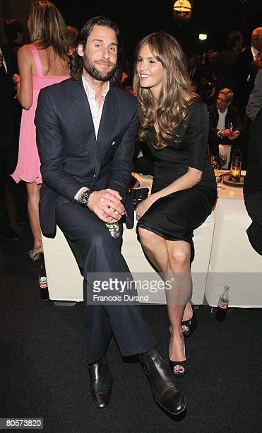 David de Rothschild and Elle Macpherson attend 'The Crossing' gala event hosted by IWC Schaffhausen held at the Geneva Palaexpo on April 8, 2008 in...