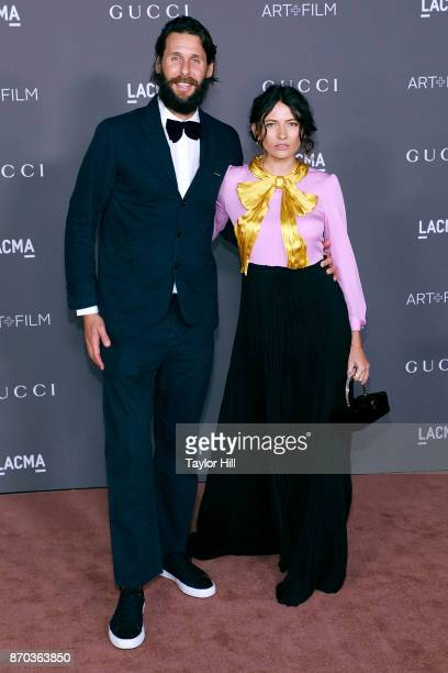David de Rothschild and Karina Deyko attend the 2017 LACMA Art Film Gala Honoring Mark Bradford And George Lucas at LACMA on November 4 2017 in Los...