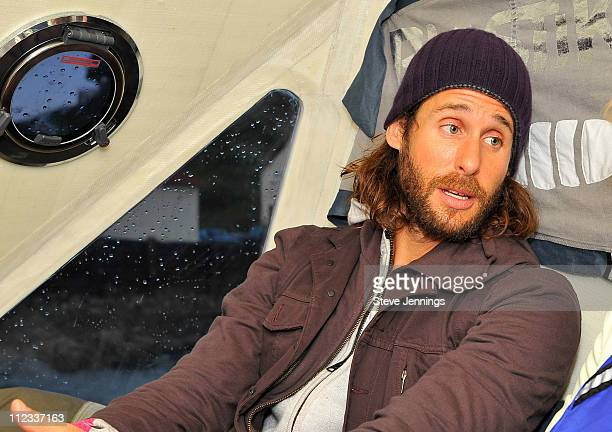 David de Rothschild is interviewed at the Plastiki unveiling on February 26 2010 in Sausalito California De Rothschild a British explorer plans to...