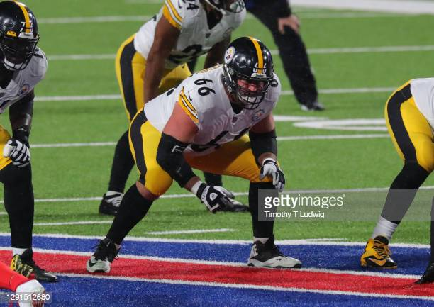 David DeCastro of the Pittsburgh Steelers during a game against the Buffalo Bills at Bills Stadium on December 13, 2020 in Orchard Park, New York.