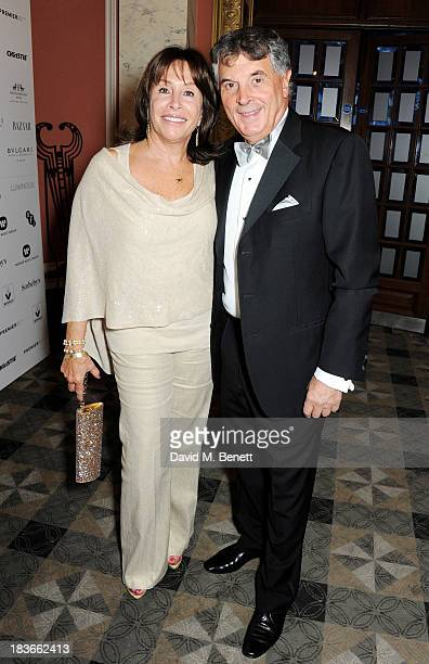 David Dein and wife Barbara attend a BFI Luminous Gala ahead of the London Film Festival at 8 Northumberland Avenue on October 8 2013 in London...
