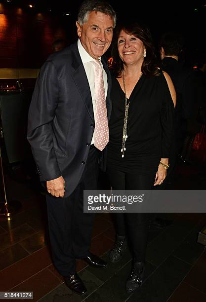 David Dein and wife Barbara Dein attend the press night after party of How The Other Half Loves at Mint Leaf on March 31 2016 in London England