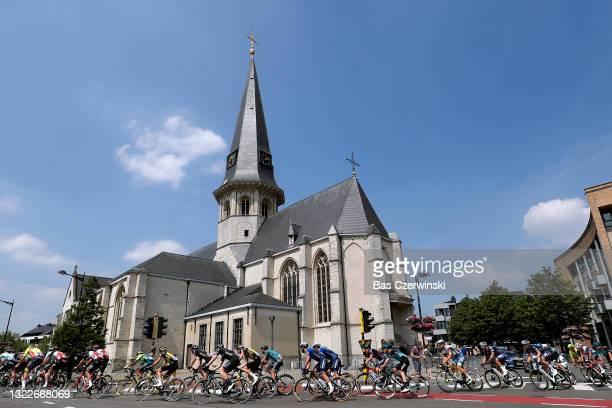 David Dekker of Netherlands and Team Jumbo - Visma, Mark Cavendish of The United Kingdom and Team Deceuninck - Quick-Step & The Peloton passing...