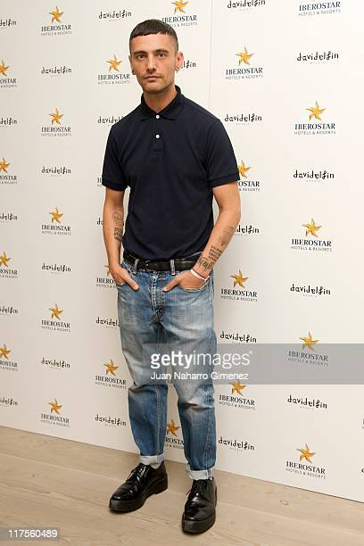 David Delfin attends a presentation of the new 'Iberostar Hotel' uniforms designed by David Delfin on June 28 2011 in Madrid Spain