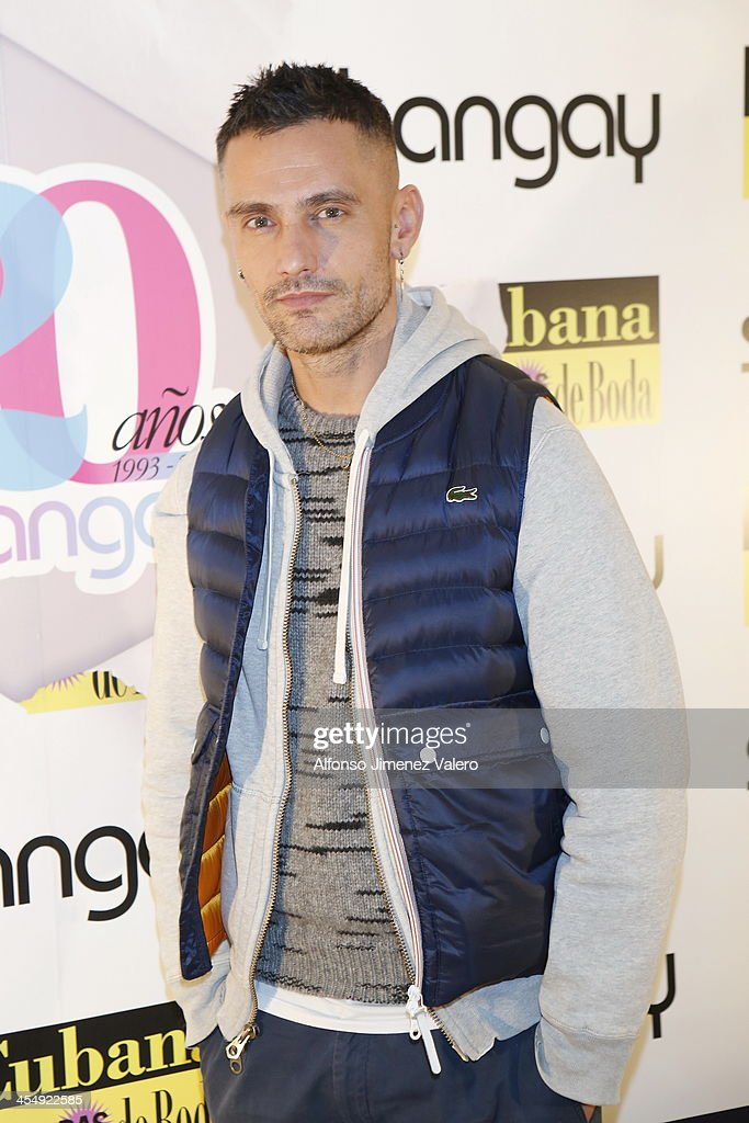 David Delfin attends Shangay Magazine 20th Anniversary in Madrid at teatro Nuevo Alcala on December 10, 2013 in Madrid, Spain.