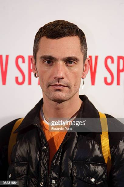 David Delfin attends the Presentation of 'V Magazine' at Shoko discoteque on December 1 2009 in Madrid Spain