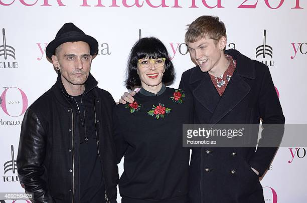 David Delfin Bimba Bose and Charly Centa attends 'Yo Dona' magazine party at Barcelo theater on February 13 2014 in Madrid Spain