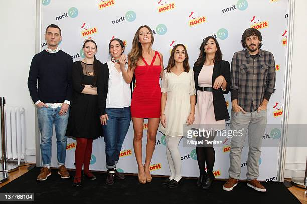 David Delfin Ines Aguilar Laura MArtinez Malena Costa Catalina D'Andrea Amy Hanna and Alex Solis attend the presentation of the 'Norit By' TShirts...