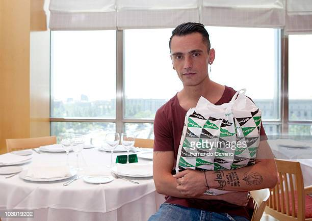 David Delfin poses at the presentation of the Spanish Designers Association 's new proyects on July 21 2010 in Madrid Spain