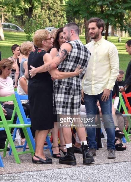 David Delfin's mother Maria Gonzalez Corbacho Pelayo Diaz and Marc Clotet attend the National Fashion Award to David Delfin The designer died last...